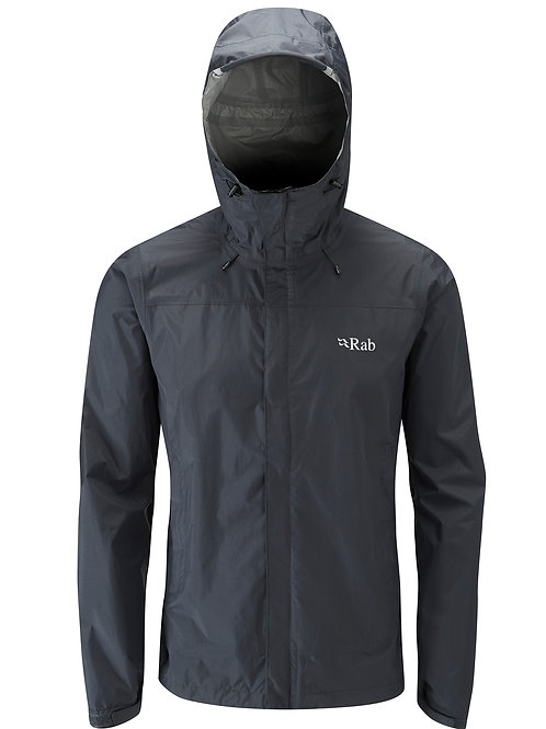 RAB BLACK DOWNPOUR JACKET