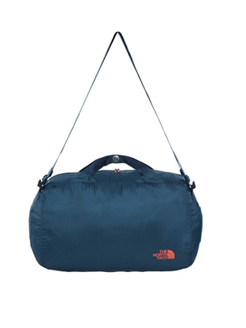 THE NORTH FACE INK BLUE FLYWEIGHT DUFFEL BAG