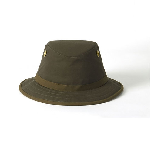 Tilley Olive Outback TWC7 Waxed Cotton Hat