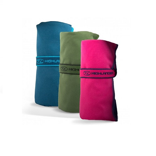 HIGHLANDER NAVY FIBRE SOFT TRAVEL TOWEL