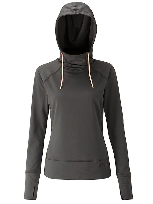 RAB LADIES ANTHRACITE CIPHER HOODIE