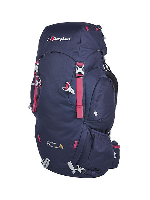 BERGHAUS LADIES DARK BLUE/PINK TRAILHEAD 60 RUCKSACK