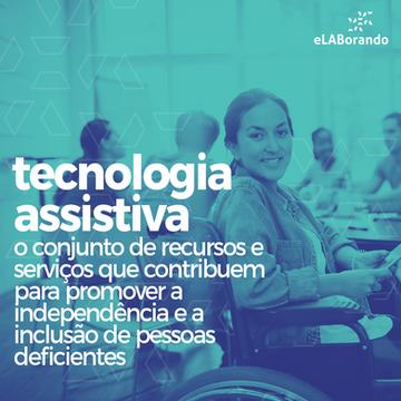 Tecnologia Assistiva é uma área do conhecimento, de característica interdisciplinar, que busca promover a funcionalidade, relacionada à atividade e participação de pessoas com deficiência, incapacidades ou mobilidade reduzida, visando sua autonomia, independência, qualidade de vida e inclusão social.