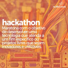 Hackathon é um evento que reúne profissionais ligados ao tema de interesse para uma maratona tecnológica, cujo objetivo é desenvolver recursos que atendam a um fim específico ou projetos livres que sejam inovadores e utilizáveis. A maratona pode durar um dia ou uma semana e os participantes têm a oportunidade de conhecer outros profissionais da área, fazer networking e participar de um projeto colaborativo em um ambiente direcionado.