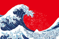 Alex Adam Gallery_Peter MacMillan(Seisai)_Before the great wave_2012_Mixed media_(W) 78cm (H) 58cm_$