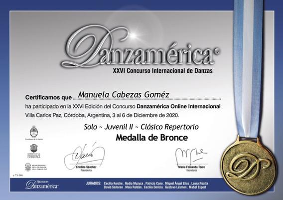 DANZAMÈRICA / LIVE 2020 / ARGENTINA (CLÀSICO REPERTORIO) MEDALLA DE BRONCE