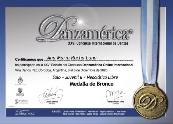 DANZAMÈRICA / LIVE 2020 / ARGENTINA          ( NEO-CLÀSICO ) MEDALLA DE BRONCE