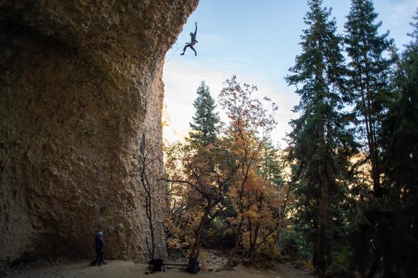 Austin Beck-Doss whips in Maple Canyon, UT