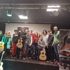 23-11-2019 workshop chitarra acustica fingerstyle scuola di musica 'Jungle' Arona (NO), presentazione chitarre Eko serie WOW