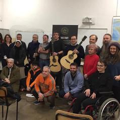 14-03-2020 workshop chitarra acustica fingerstyle scuola di musica 'Università Popolare di Vercelli' (VC), presentazione chitarre Eko serie WOW