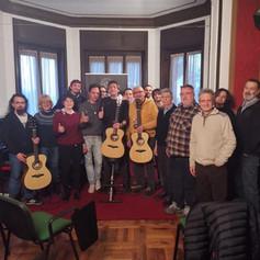 26-01-2020 workshop chitarra acustica fingerstyle scuola di musica 'Sonoria' Cossato (BI), presentazione chitarre Eko serie WOW
