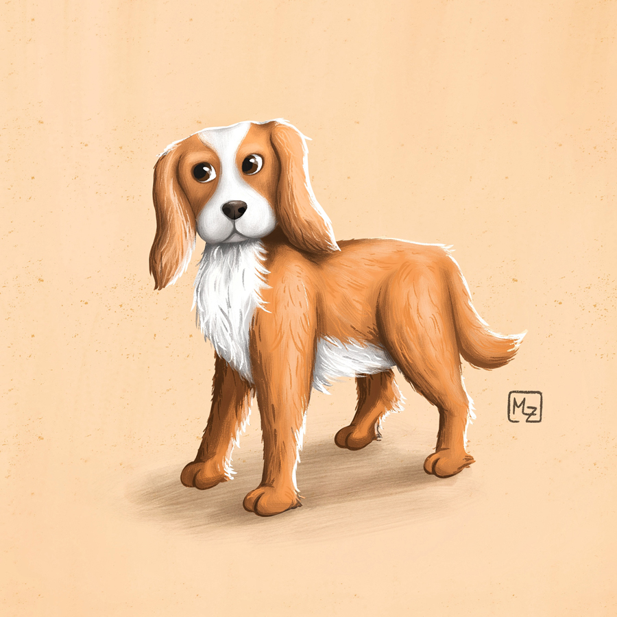 Cocker Spaniel Character Illustration