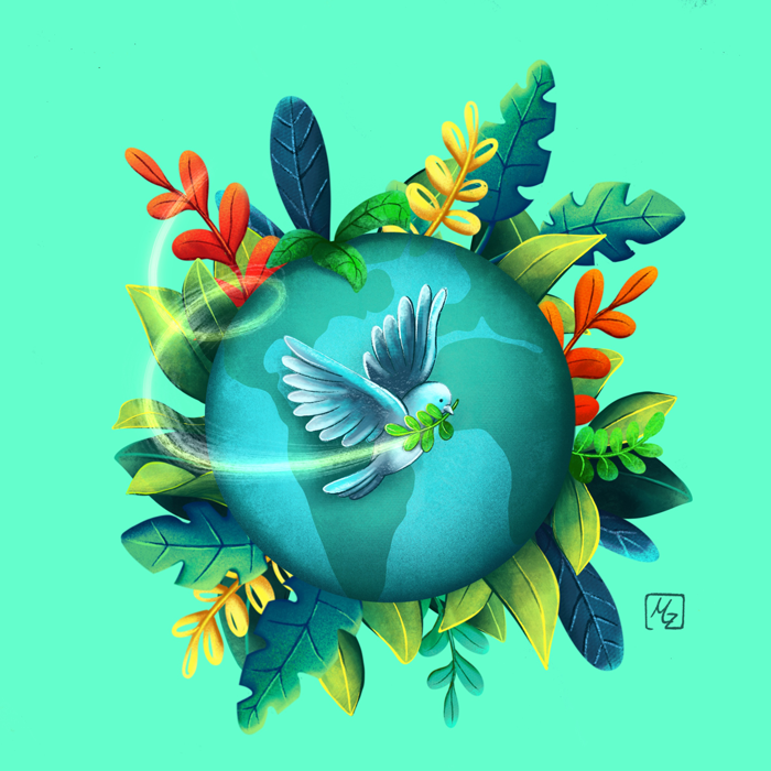 "Harmony - Illustration für ""our planet week"" Illustration Challenge"