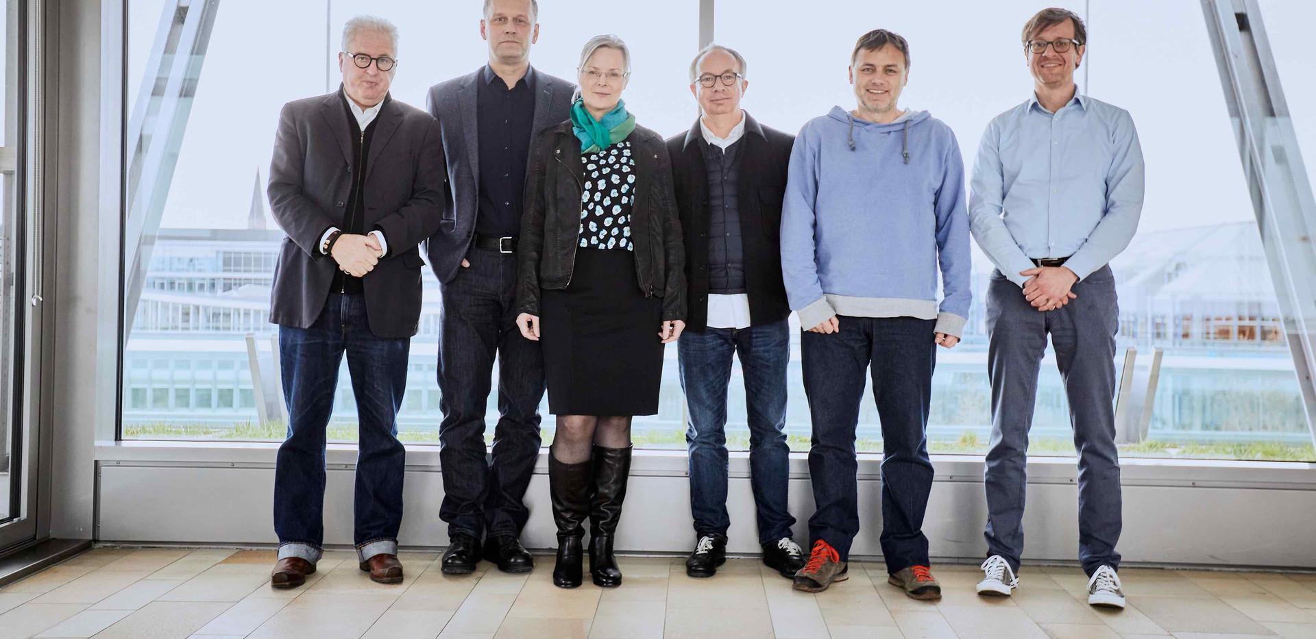Expert Jury 2020:  Von links nach rechts: Uni. Prof. Wolfgang Sattler, Tim Oelker, Veronika Eggers, Martin Fößleitner, Rainer Langer , Moritz Segers