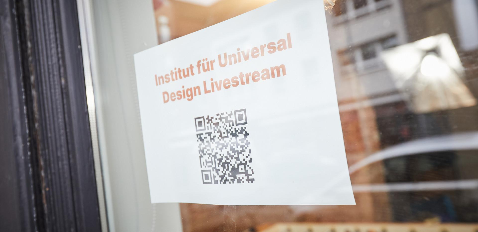 Institut für Universal Design - Livestream  Nahezu alle Veranstaltungen wurden live über YouTube gestreamt. Diese finden Sie nun wiederaufrufbar in der Mediathek auf YouTube.