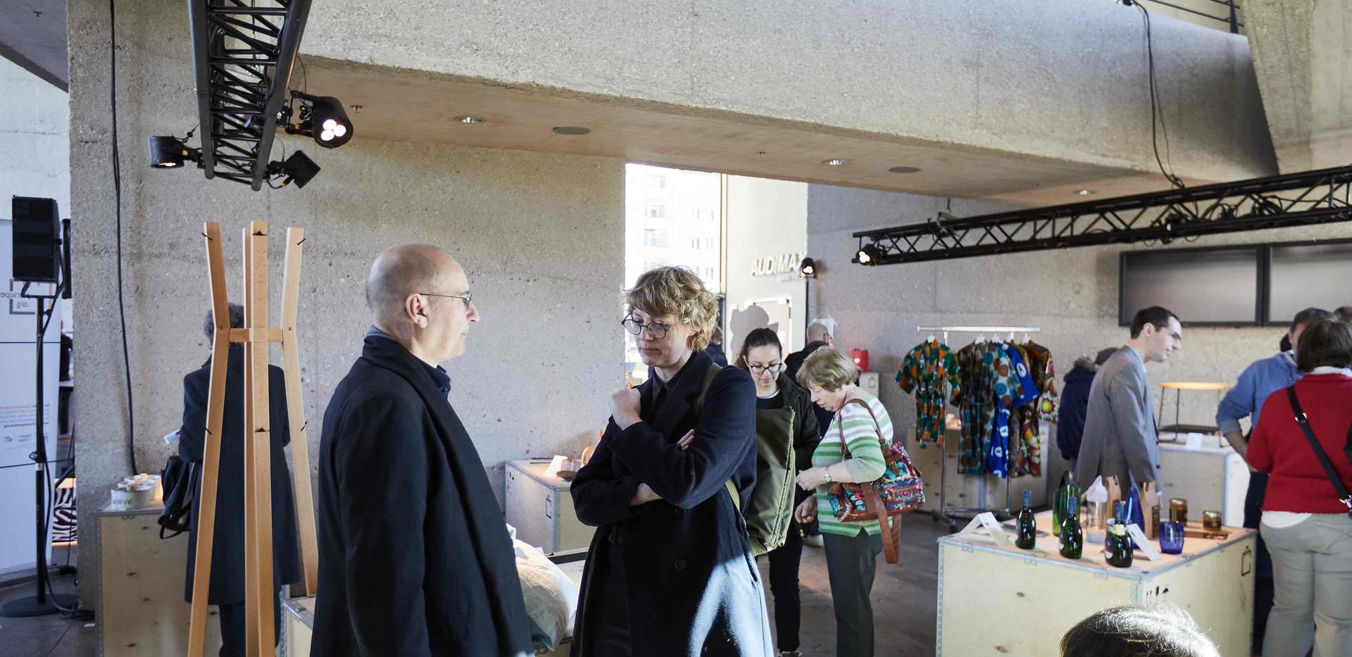 Boris Kochan, Präsident Deutscher Designtag e.V. Prof. Daniela Hensel, Professorin im Studiengang Kommunikationsdesign HTW Berlin