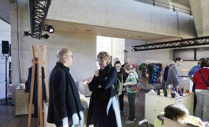 Boris Kochan, President of Deutscher Designtag eV Prof. Daniela Hensel, professor in the communication design course at HTW Berlin