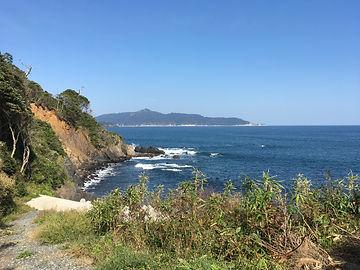 網地島からみえる金華山