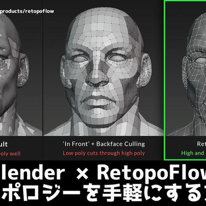 【CG最新情報局】Blenderでリトポロジーをきれいに行える!!RetopoFlow解説【Blender アドオン】