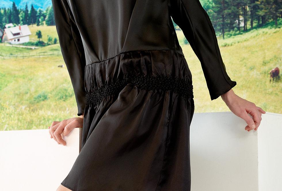 Mia - Kimono Sleeve Shibori Dress