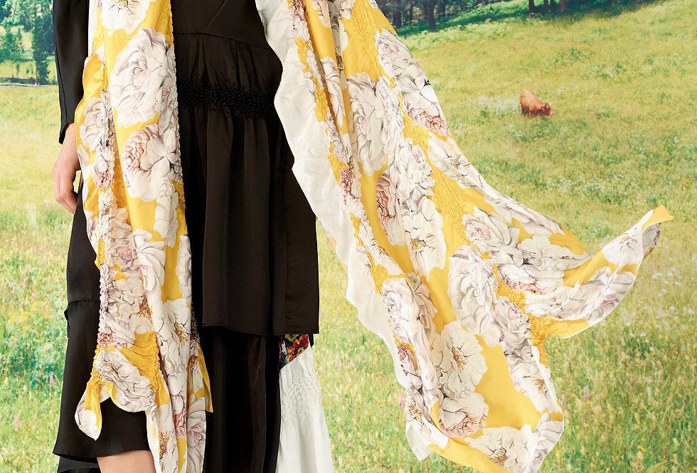 Luna - Print Vertical Shibori Stole - Long
