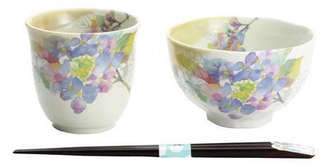 MINOWARE HANA MISAKI BOWL AND CUP SET