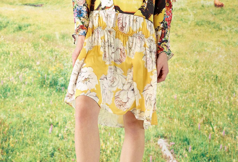Mia - Multi Print Kimono Sleeve Shibori Dress