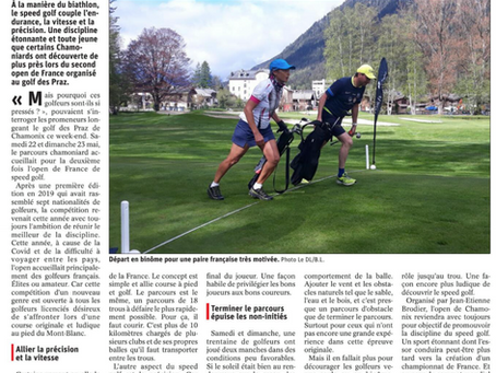 L'Open de France de Speedgolf 2021 dans la presse