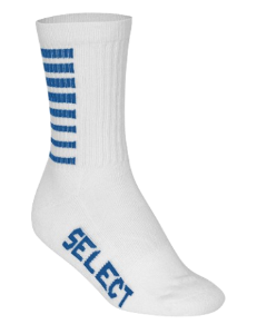 Chaussettes blanches à rayures bleues