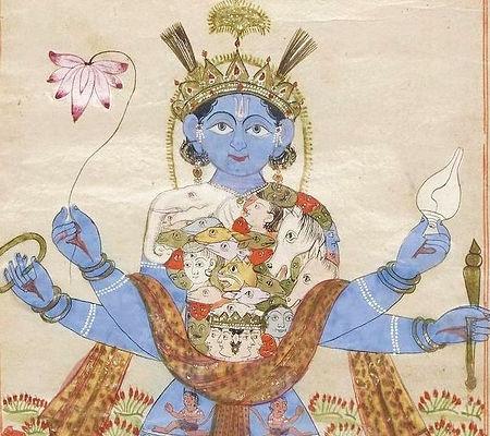 Krishna (or Devi) as Vishvarupa.jpg