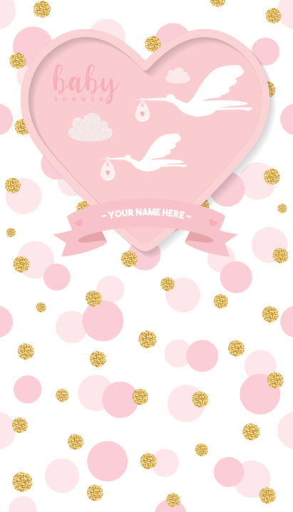 """Background and table topper - Baby Shower Girl 48""""x84"""""""