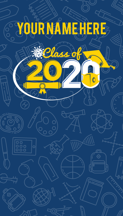 "Background and table topper - Class of 2020 48""x84"""