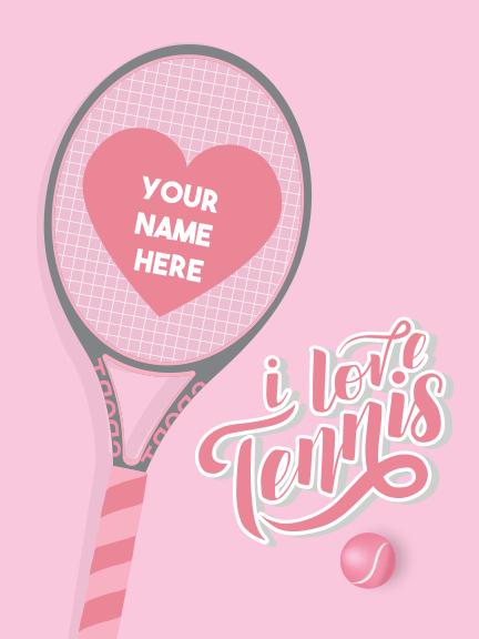 """Sign - Tennis Girl 18""""x24"""""""