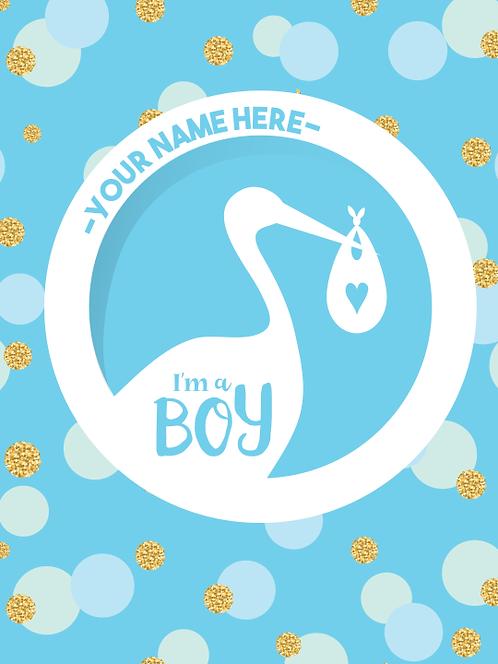 """Sign - Baby Shower Boy 18""""x24"""""""