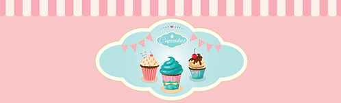 "Skirt - Cupcakes 29""x96"""