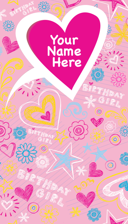 """Background and table topper - Birthday Girl 48""""x84"""""""