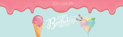 """Skirt - Ice Cream 29""""x96"""""""