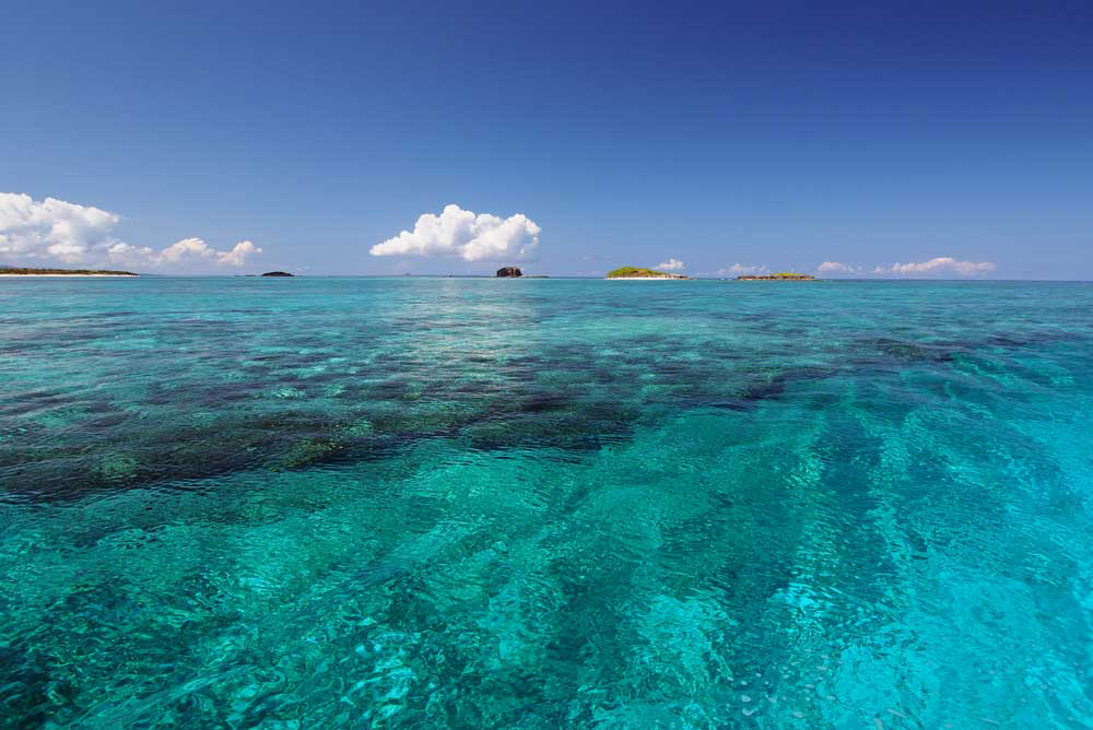 那覇島の浅瀬