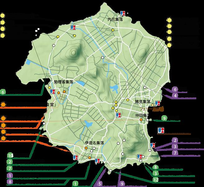 島の案内図