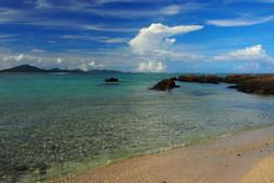 伊平屋島を望む