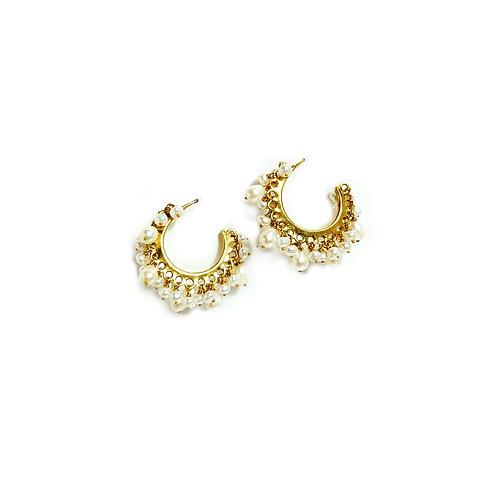 Boucles d'oreilles CREOLE perles