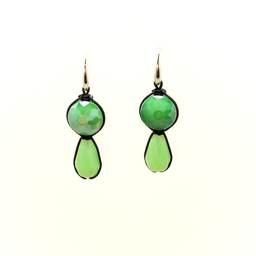 Boucles d'oreilles CRYSTAL verte