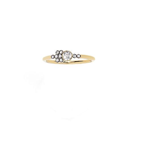 Bague LA PIERRE diamant asymétrique