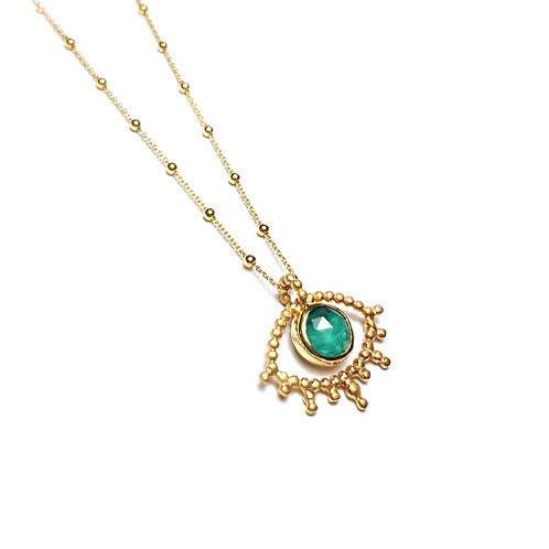 Collier OEIL Malachite