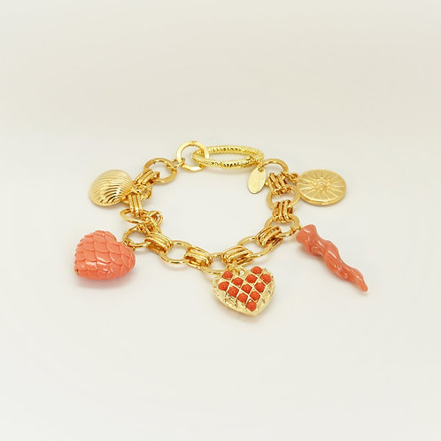 Bracelet CHARM orange/corail