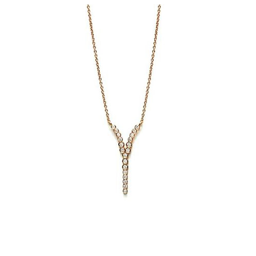 """Collier """"Y"""" or rose18 ct"""
