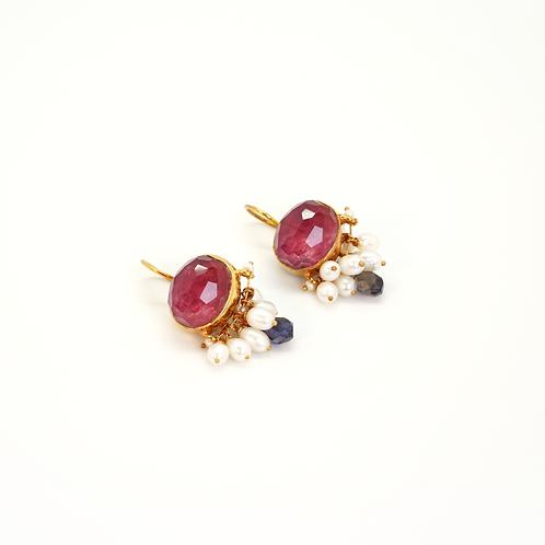 Boucles d'oreilles CABOCHON perles