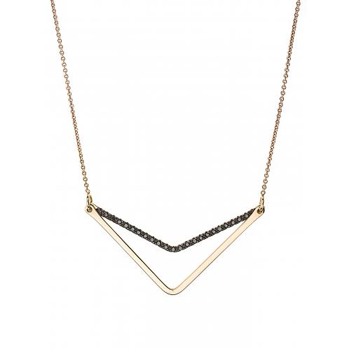 Collier TRIANGLE  diamant noir