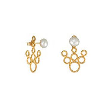 Boucles d'oreilles DENTELLE  perle blanche