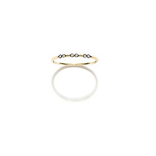 Bague or 18cts 6 diamants